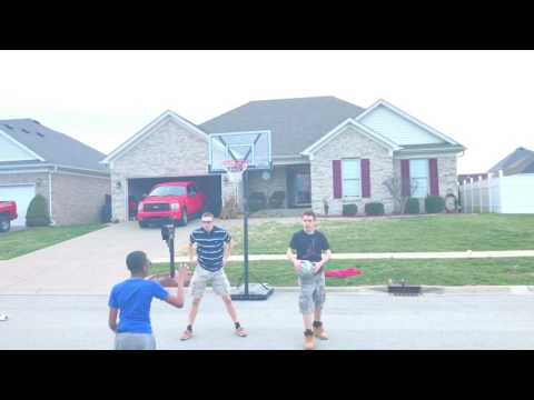 Nerd plays basketball