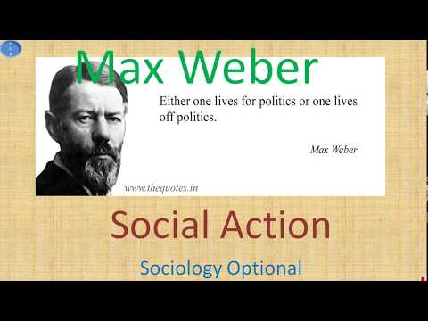 Max Weber Theory of Social Action Sociology Optional UPSC CSE