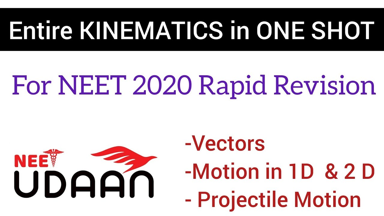 Complete Kinematics Rapid Revision in One Shot for NEET 2020