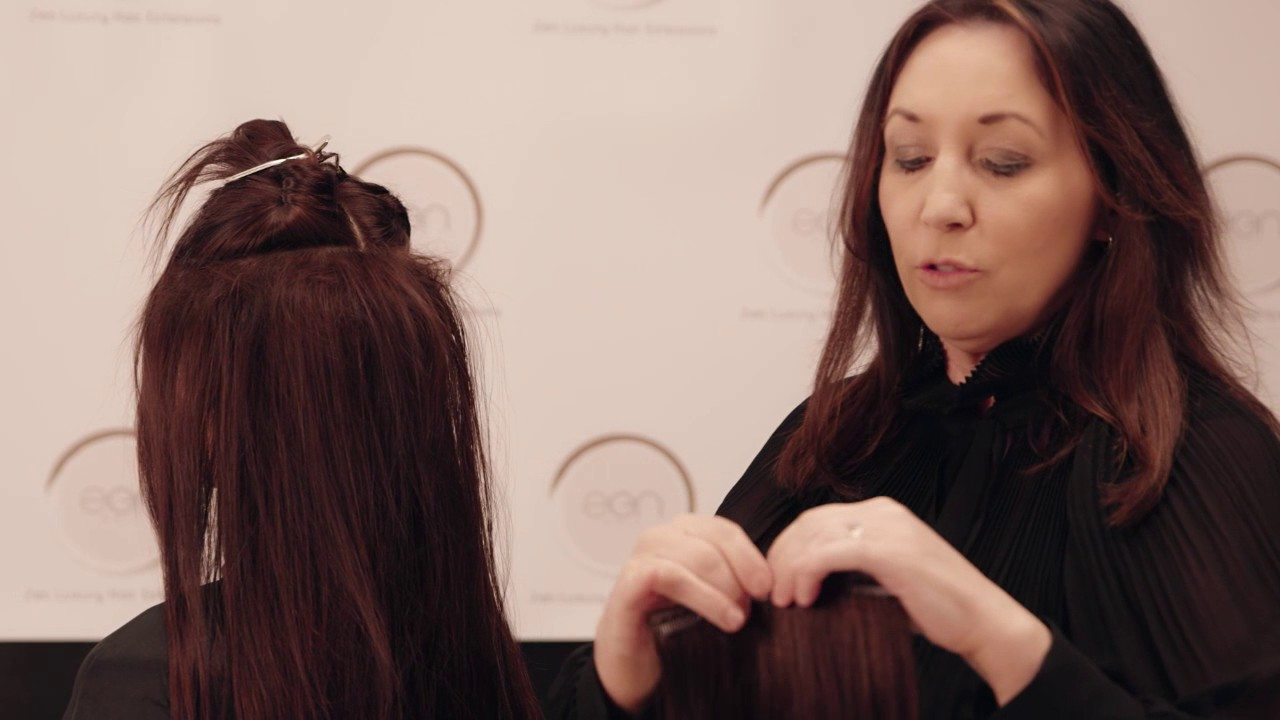 How To Apply The Zen Hair 7 Piece Clip In Extensions Set With