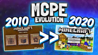 Evolution of MINECRAFT 2010-2020! - MCPE History (0.1 to 1.13) - Minecraft Bedrock Edition Evolution