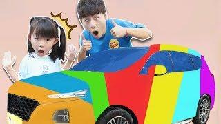 알록달록한 자동차 세차 놀이로 색깔놀이 해봐요. Rainbow Car with Magic Water 마슈토이 Mashu ToysReview