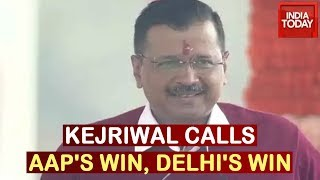 Arvind Kejriwal Takes Oath As CM For Third Time, Calls It Delhi's Win