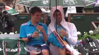 Novak Djokovic The comedian part 2 (FULL HD)