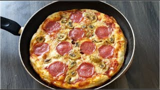 How To Make Pizza  At Home Without Oven/ Homemade Pizza In The Pan