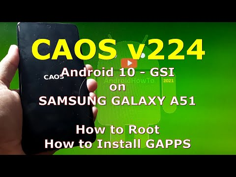 CAOS v224 Android 10 for Samsung Galaxy A51 Super Image Partition