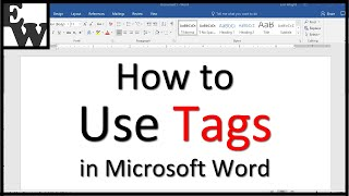 how to Use Tags in Microsoft Word