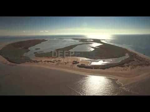 Mud Islands aerial view Port Phillip Bay