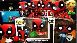 Funko POP! Deadpool Showcase! Mermaid! Cheerleader! Scooter! Bedtime! (Target/Box Lunch Exclusives)