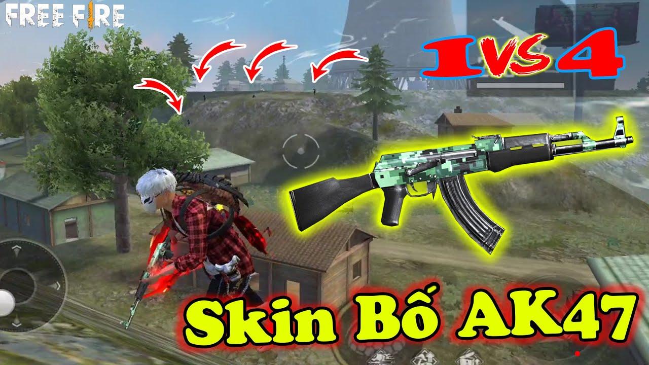 Skin Đầu Tiên AK47 Là Gì ? Cầm Solo Rank Squad Clear Team 4 Headshot 100% Là Có Thật   Free Fire