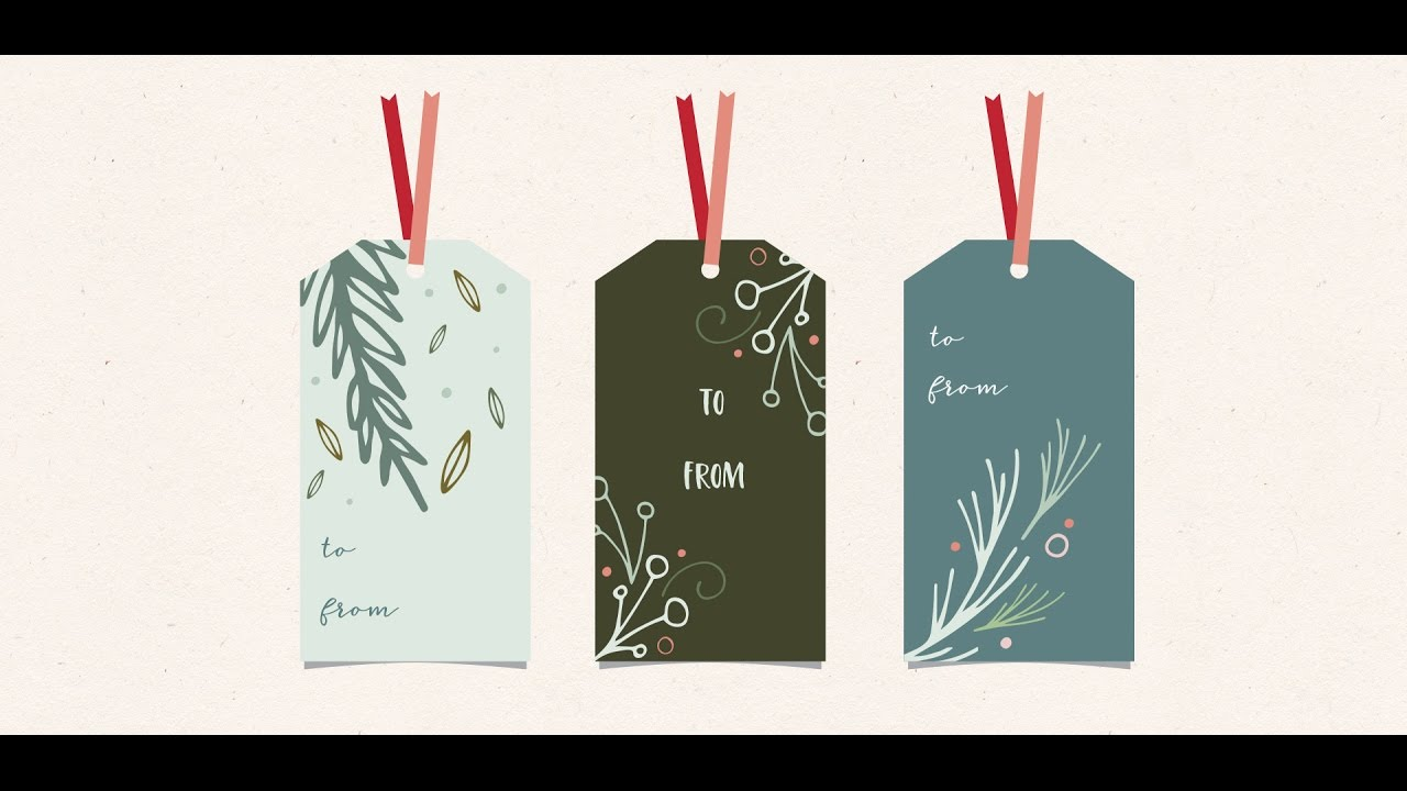 11e166504464f Design Holiday Gift Tags in Adobe Illustrator - YouTube