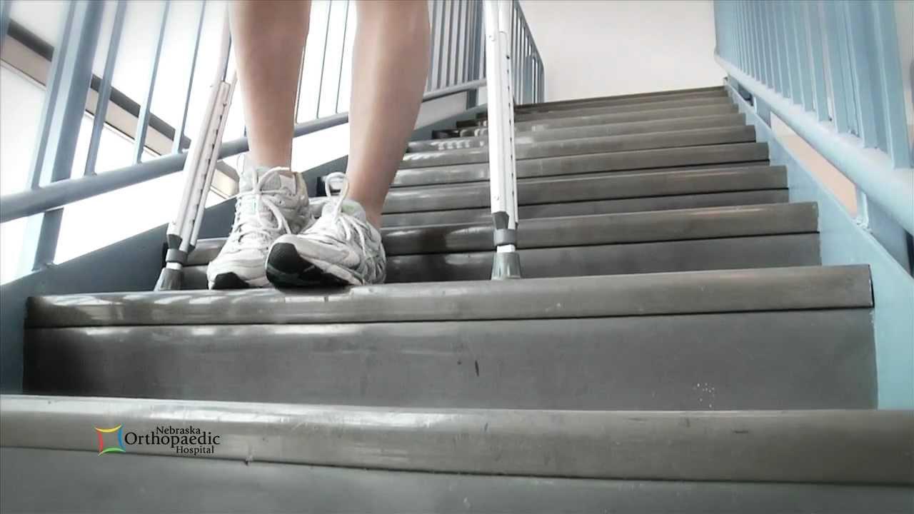 Crutch Training At Orthonebraska Hospital Youtube