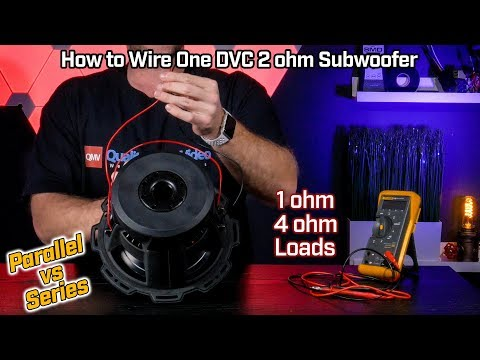 How to Wire Your Subwoofer Dual Voice Coil 2 ohm - 1 ohm Parallel vs Wiring Ohm Dvc Subs on 3 4 ohm svc subs wiring, single 4 ohm dvc wiring, 8 ohm subwoofer wiring, 2 ohm wiring, 8 ohm speaker wiring, 1 ohm subwoofer wiring,