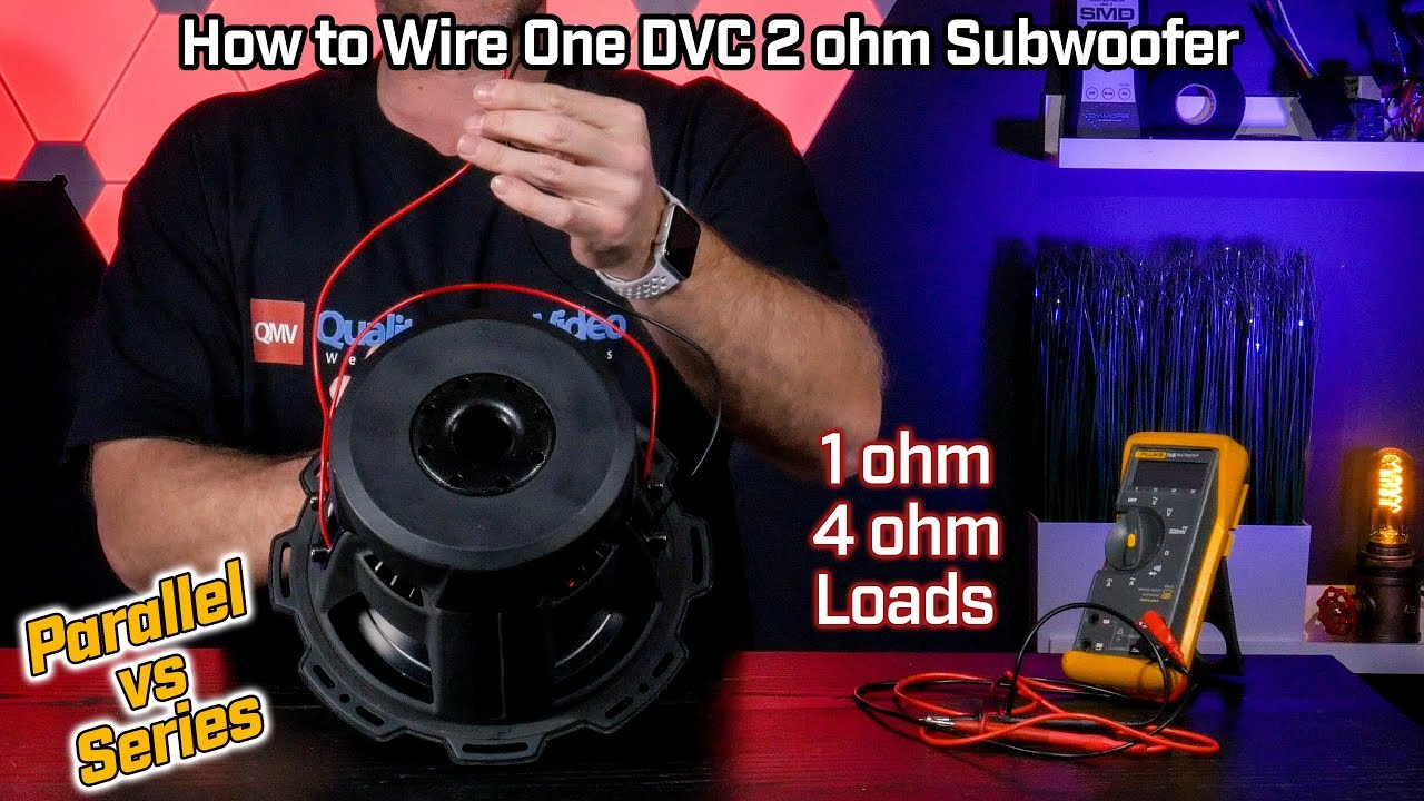 how to wire your subwoofer dual voice coil 2 ohm 1 ohm parallel vs 4 ohm series configurations [ 1280 x 720 Pixel ]