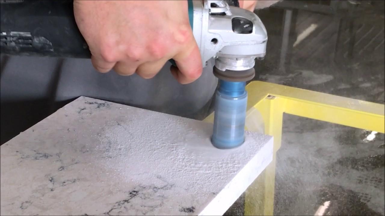 Dry Magic Core Bit Drilling 3cm Quartz Stone In 20 Seconds Youtube