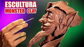 HOW TO MAKE A SCULPTURE WITH MONSTER CLAY !! THIS IS EPIC ! HaroldArtist