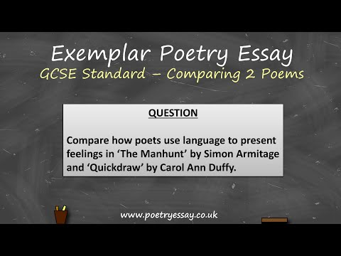 Exemplar Poetry Essay - Comparing Two Poems - GCSE Standard
