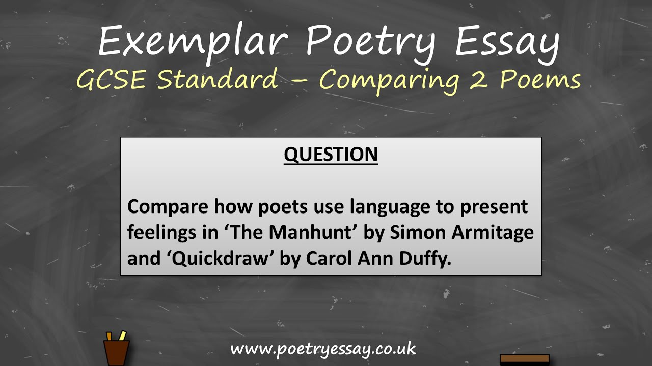 comparative essay two poems This handout will help you determine if an assignment is asking for comparing and contrasting  comparison/contrast essay here are two: compare a poem you.