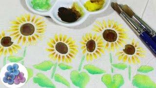 Como hacer Pintura en Tela con Esténciles de Flores y 3D Tutorial Pintar en Tela Pintura Facil
