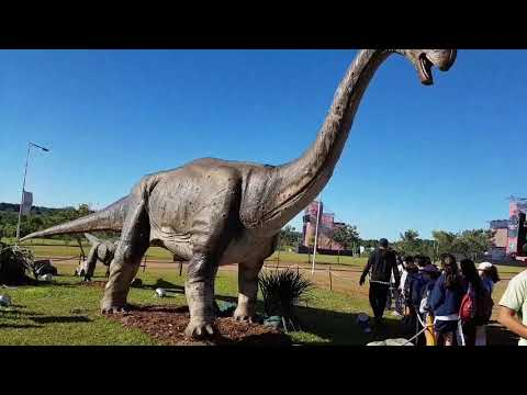 Tiranosaurio / Tyrannosaurus Rex, Triceratops, Velociraptor en Tecnopolis Federal 2017