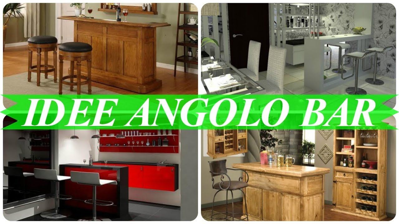 Idee arredamento bar in casa moderno youtube - Angolo bar a casa ...