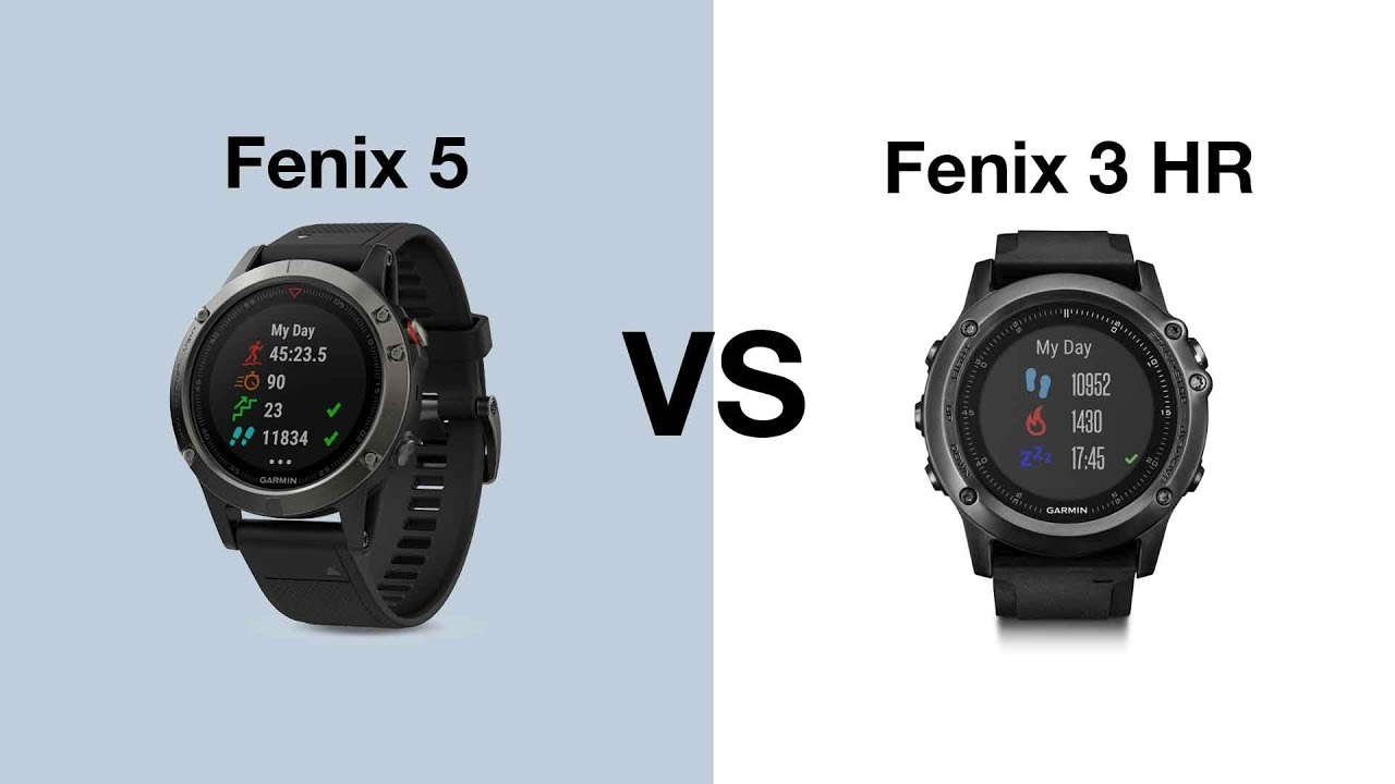 Skillnaden Pa Garmin Fenix 5 Vs Garmin Fenix 3 Hr Youtube