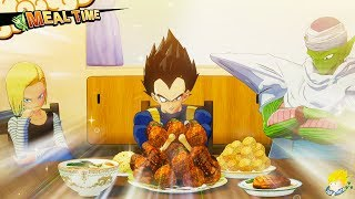 Dragon Ball Z Kakarot - All Characters Eating Full Course Dinner Meals