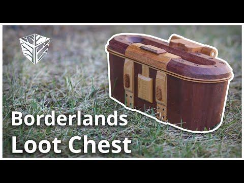 Wooden Borderlands Red Loot Chest