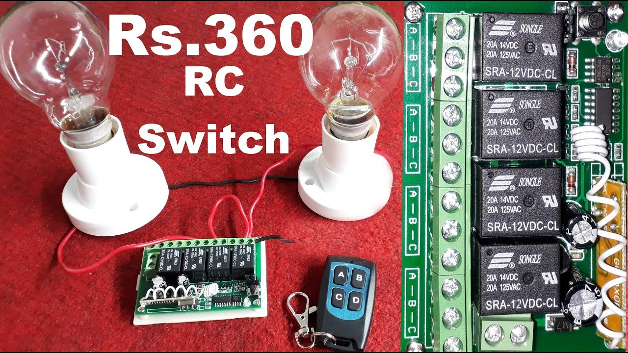Remote control switches for Lights and Fans | Wireless Remote ...