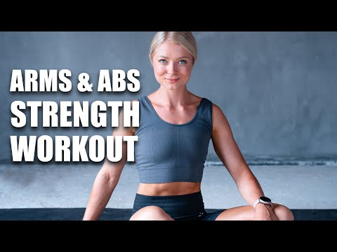 10 MIN STRONG TONED ARMS & ABS - Home Workout - no equipment