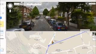 Street view directions to The Talbot hostel from Acton Town tube station in London