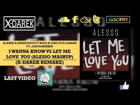 I Wanna Know Vs Let Me Love You (Alesso Mashup) (X-Darek Remake)