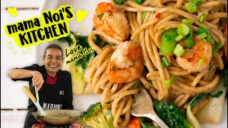 Thai Pepper Garlic Shrimp Noodles - Marion's Kitchen