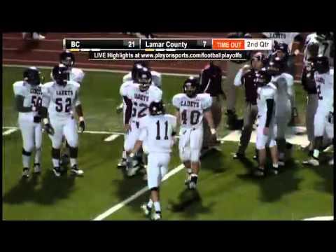 Football - Benedictine vs. Lamar County - YouTube