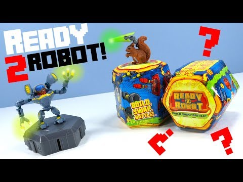 Ready 2 Robot Series 1 Build Swap Battle & Slime Toy Unboxing Surprise 2018