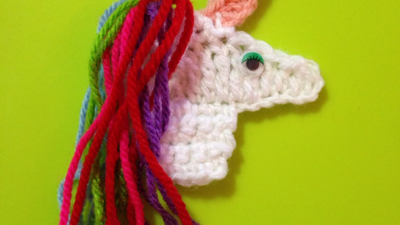 How To Make A Beautiful Crocheted Unicorn Applique - DIY Crafts ...