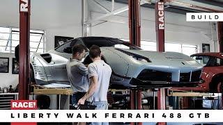 TIMELAPSE - Rebuilding A Liberty Walk Ferrari 488 GTB V.II