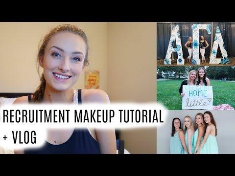 Recruitment Makeup Tutorial + Vlog (Sonoma State) | wakingup2makeup
