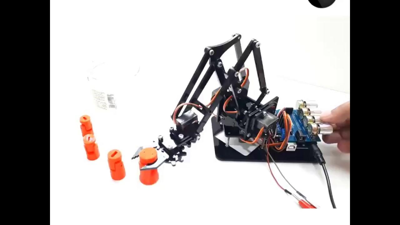 DIY Robot Arm Kit Educational Robotic Claw Set MULTI SCREWS +