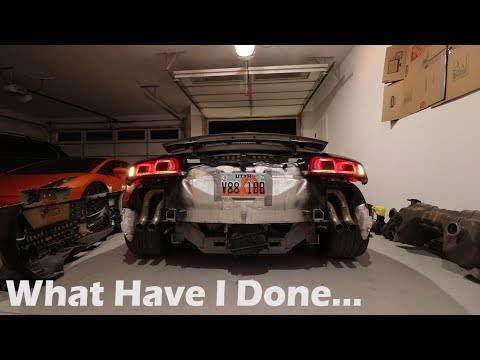 I STRAIGHT PIPED my Audi R8