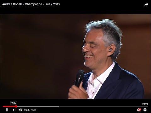 Bocelli : Champagne ! [Σαμπάνια !]  GR Lyrics