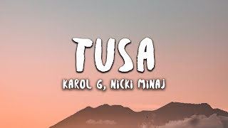 Download lagu Karol G, Nicki Minaj - Tusa (Letra / Lyrics)