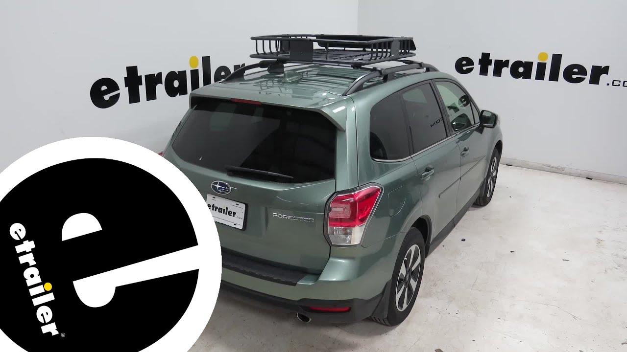 Etrailer Curt Roof Basket Review 2018 Subaru Forester