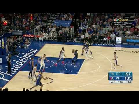 Orl. 97-105 Vuc down-screen Covington, Covington doesn't recover allowing Ross onto Johnson