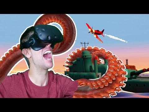 BECOMING THE MIGHTY KRAKEN IN VR! DESTROYING ENTIRE CIVILIZATIONS! - Kraken HTC VIVE Gameplay