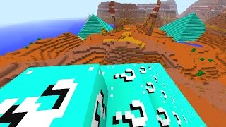 Minecraft LUCKY BLOCK PYRAMID DEFENSE #1 with The Pack (Minecraft Lucky Block Mod)