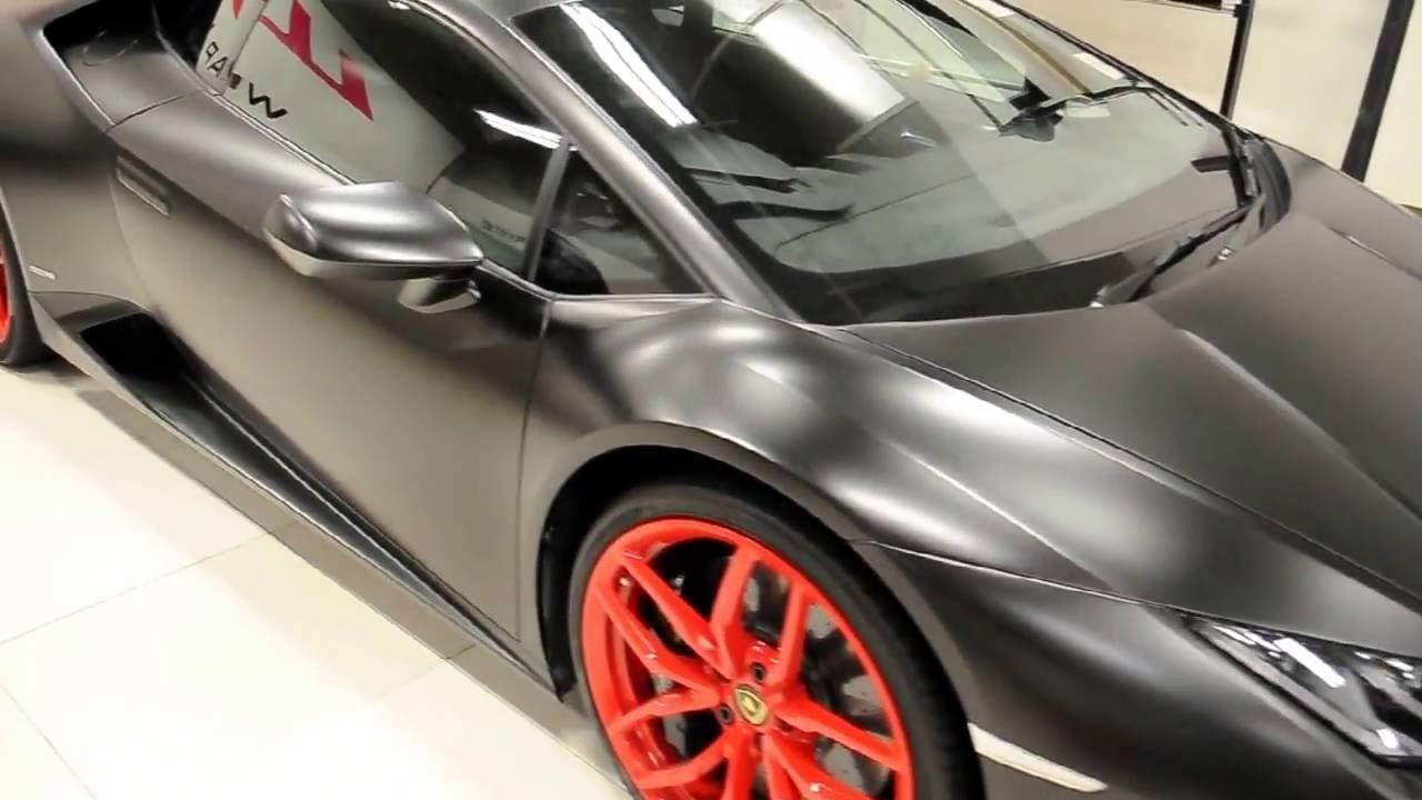 Satin Black Lamborghini Huracan By Wrap Workz Hong Kong Youtube
