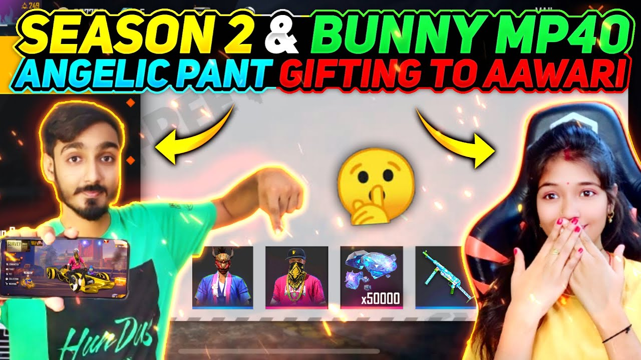 Gifting Season 2 Bunny mp40 And Angelic Pant to AAWARI ❤️ Worth 10,00,000 Rupees || Free Fire