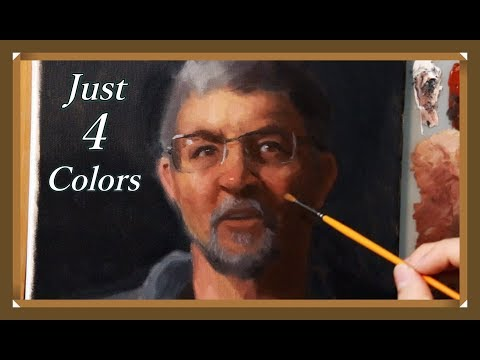 portrait-painting-tutorial-|-the-cheapest-palette-ever---real-time