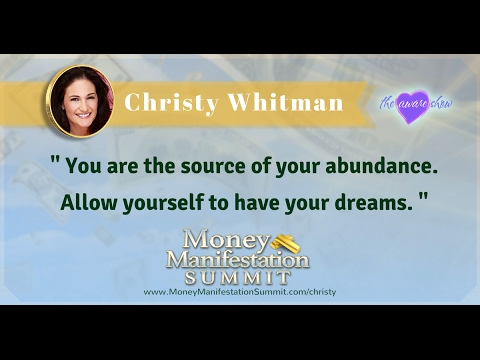 Christy Whitman on the Money Manifestation Summit with Lisa Garr on The Aware Show